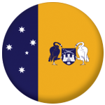 Australia Capital Territory Flag 25mm Button Badge